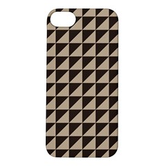Brown Triangles Background Pattern  Apple Iphone 5s/ Se Hardshell Case