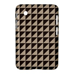 Brown Triangles Background Pattern  Samsung Galaxy Tab 2 (7 ) P3100 Hardshell Case