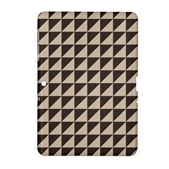 Brown Triangles Background Pattern  Samsung Galaxy Tab 2 (10 1 ) P5100 Hardshell Case