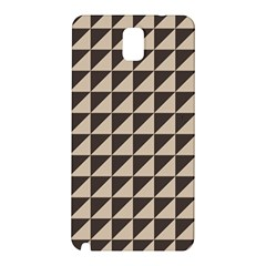 Brown Triangles Background Pattern  Samsung Galaxy Note 3 N9005 Hardshell Back Case