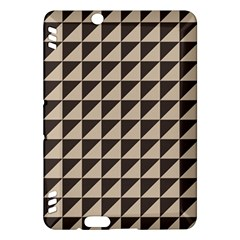 Brown Triangles Background Pattern  Kindle Fire Hdx Hardshell Case
