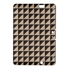 Brown Triangles Background Pattern  Kindle Fire Hdx 8 9  Hardshell Case