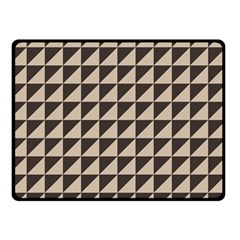 Brown Triangles Background Pattern  Double Sided Fleece Blanket (small)