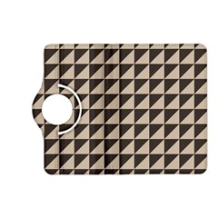 Brown Triangles Background Pattern  Kindle Fire Hd (2013) Flip 360 Case