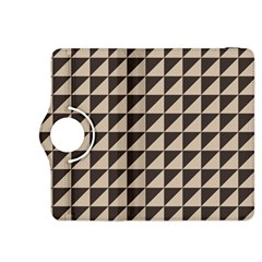 Brown Triangles Background Pattern  Kindle Fire Hdx 8 9  Flip 360 Case