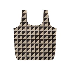 Brown Triangles Background Pattern  Full Print Recycle Bags (s)