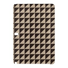 Brown Triangles Background Pattern  Samsung Galaxy Tab Pro 12 2 Hardshell Case