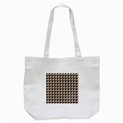 Brown Triangles Background Pattern  Tote Bag (white)