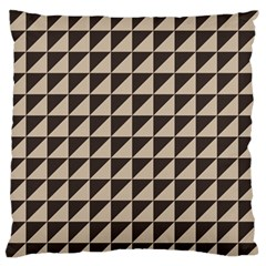 Brown Triangles Background Pattern  Large Flano Cushion Case (two Sides)