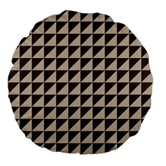 Brown Triangles Background Pattern  Large 18  Premium Flano Round Cushions