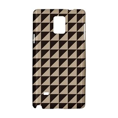 Brown Triangles Background Pattern  Samsung Galaxy Note 4 Hardshell Case