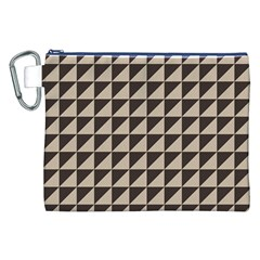 Brown Triangles Background Pattern  Canvas Cosmetic Bag (xxl)