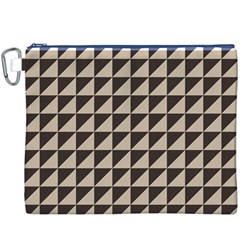 Brown Triangles Background Pattern  Canvas Cosmetic Bag (xxxl)