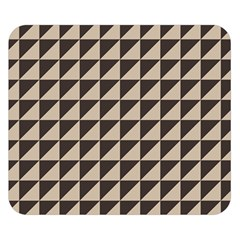 Brown Triangles Background Pattern  Double Sided Flano Blanket (small)