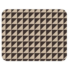 Brown Triangles Background Pattern  Double Sided Flano Blanket (medium)