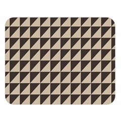 Brown Triangles Background Pattern  Double Sided Flano Blanket (large)