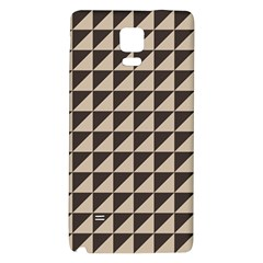 Brown Triangles Background Pattern  Galaxy Note 4 Back Case