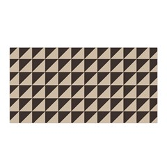 Brown Triangles Background Pattern  Satin Wrap