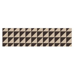 Brown Triangles Background Pattern  Satin Scarf (oblong)