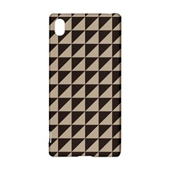 Brown Triangles Background Pattern  Sony Xperia Z3+