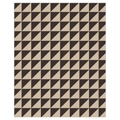 Brown Triangles Background Pattern  Drawstring Bag (small)