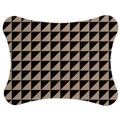 Brown Triangles Background Pattern  Jigsaw Puzzle Photo Stand (bow)