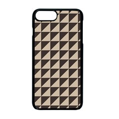 Brown Triangles Background Pattern  Apple Iphone 7 Plus Seamless Case (black)