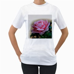 Rose Pink Flowers Pink Saturday Women s T Shirt (white) (two Sided)