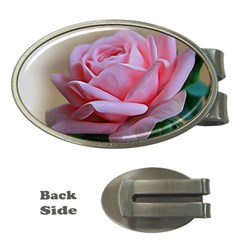 Rose Pink Flowers Pink Saturday Money Clips (oval)