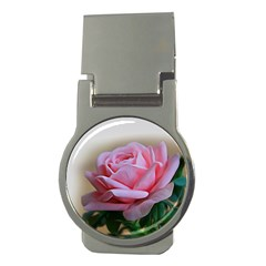 Rose Pink Flowers Pink Saturday Money Clips (round)