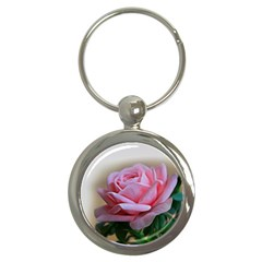 Rose Pink Flowers Pink Saturday Key Chains (round)