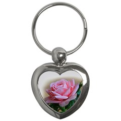 Rose Pink Flowers Pink Saturday Key Chains (heart)