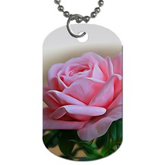 Rose Pink Flowers Pink Saturday Dog Tag (one Side)