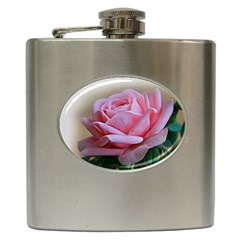 Rose Pink Flowers Pink Saturday Hip Flask (6 Oz)