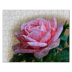 Rose Pink Flowers Pink Saturday Rectangular Jigsaw Puzzl