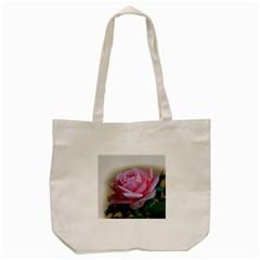 Rose Pink Flowers Pink Saturday Tote Bag (cream)
