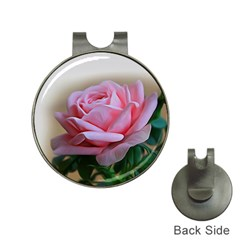 Rose Pink Flowers Pink Saturday Hat Clips With Golf Markers