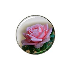 Rose Pink Flowers Pink Saturday Hat Clip Ball Marker (4 Pack)