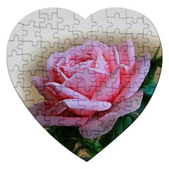 Rose Pink Flowers Pink Saturday Jigsaw Puzzle (heart)