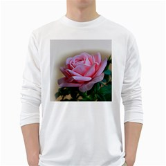 Rose Pink Flowers Pink Saturday White Long Sleeve T Shirts