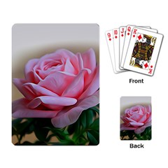 Rose Pink Flowers Pink Saturday Playing Card