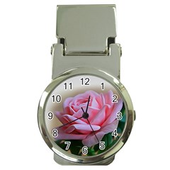 Rose Pink Flowers Pink Saturday Money Clip Watches