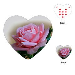 Rose Pink Flowers Pink Saturday Playing Cards (heart)