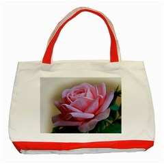 Rose Pink Flowers Pink Saturday Classic Tote Bag (red)