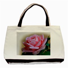 Rose Pink Flowers Pink Saturday Basic Tote Bag (two Sides)