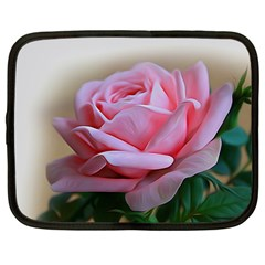 Rose Pink Flowers Pink Saturday Netbook Case (large)
