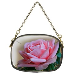 Rose Pink Flowers Pink Saturday Chain Purses (one Side)