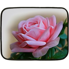 Rose Pink Flowers Pink Saturday Fleece Blanket (mini)