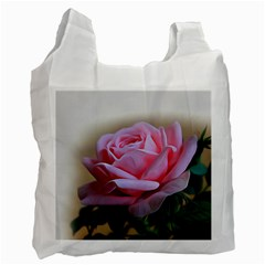 Rose Pink Flowers Pink Saturday Recycle Bag (two Side)
