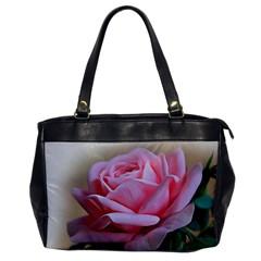 Rose Pink Flowers Pink Saturday Office Handbags